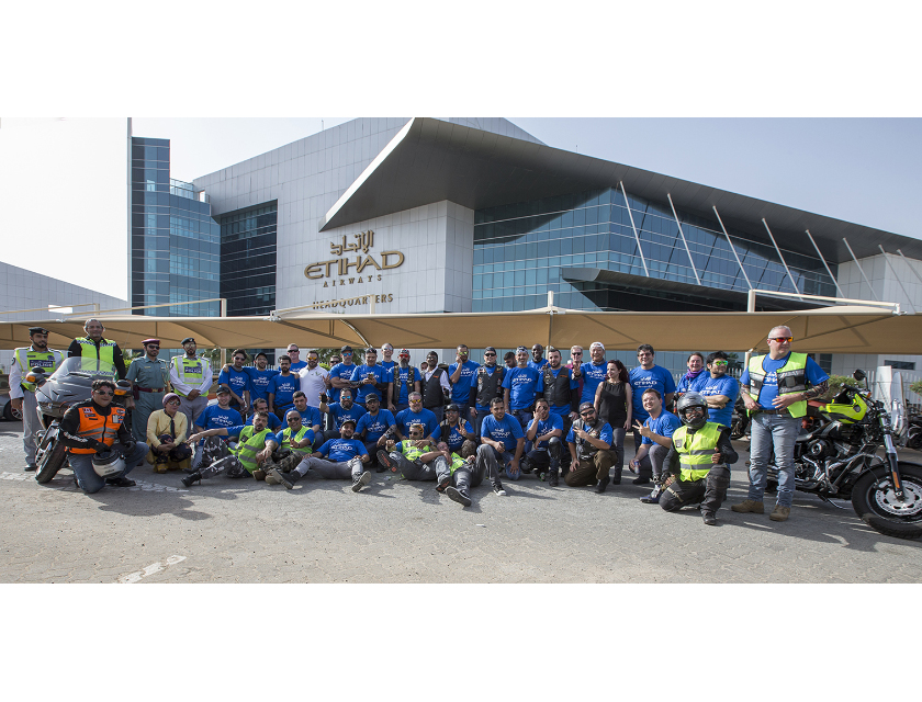 etihad aviation group organises motorbike parade to support autism awareness month 1