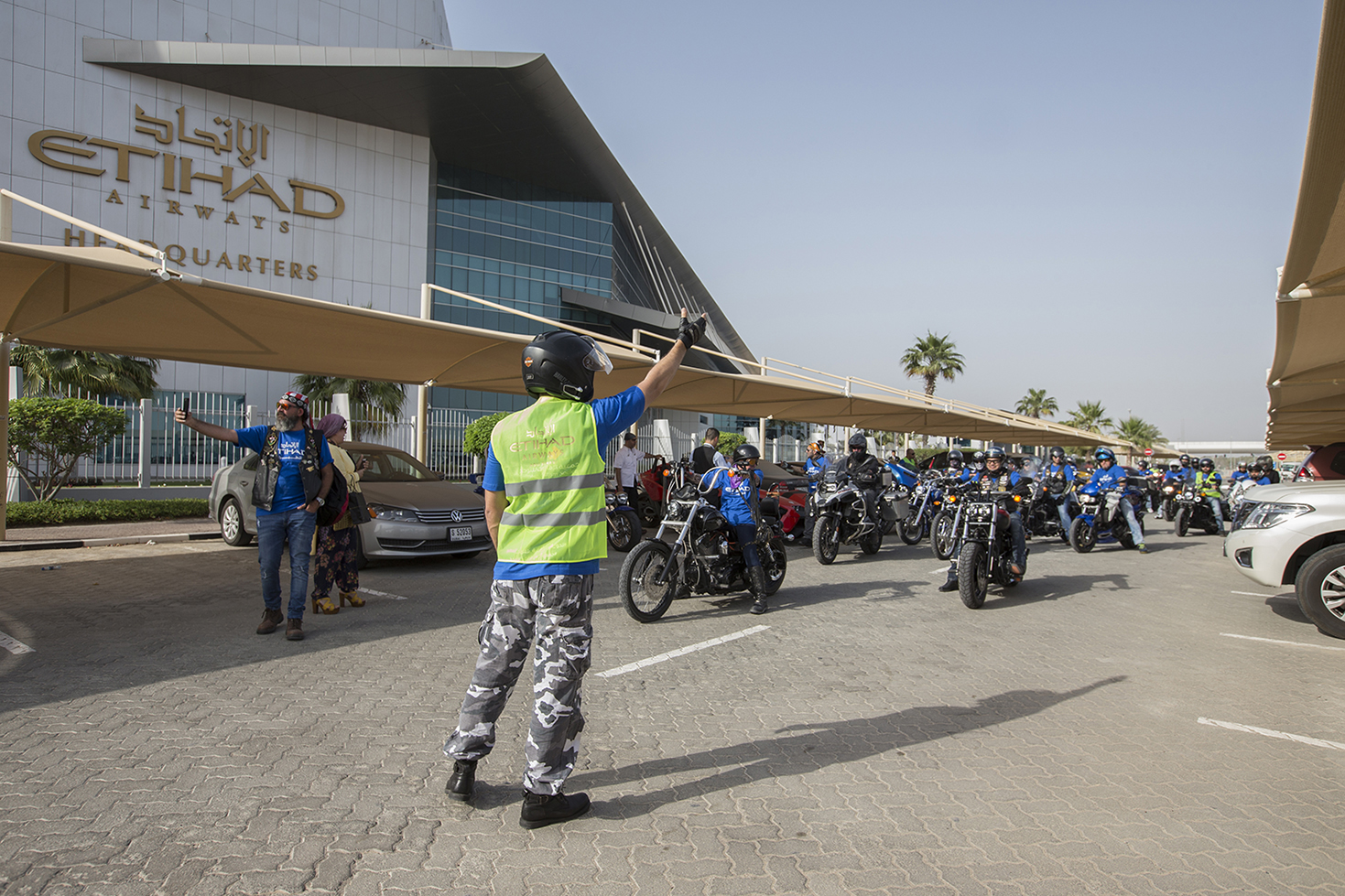 etihad aviation group organises motorbike parade to support autism awareness month 2