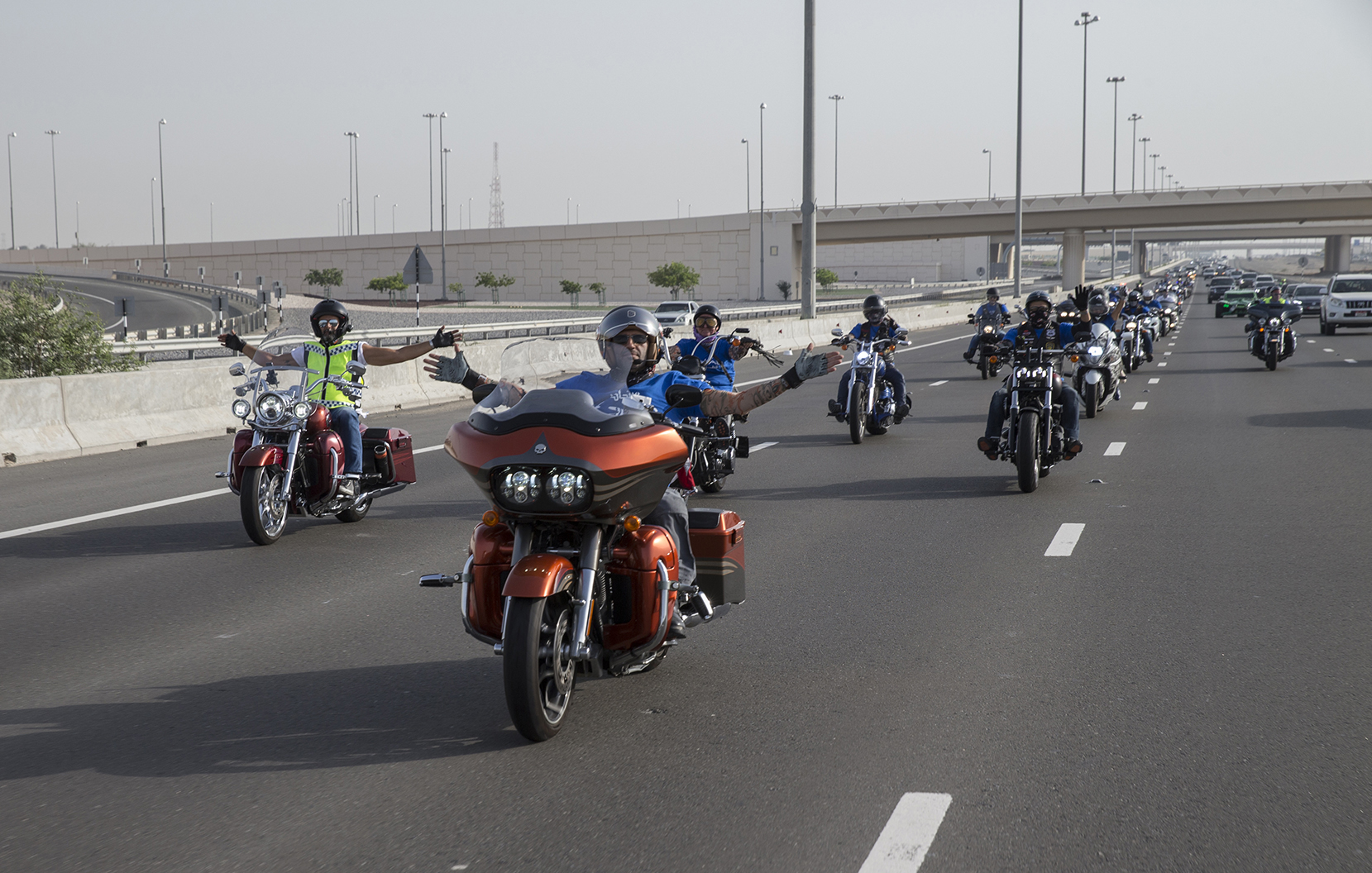 etihad aviation group organises motorbike parade to support autism awareness month 4