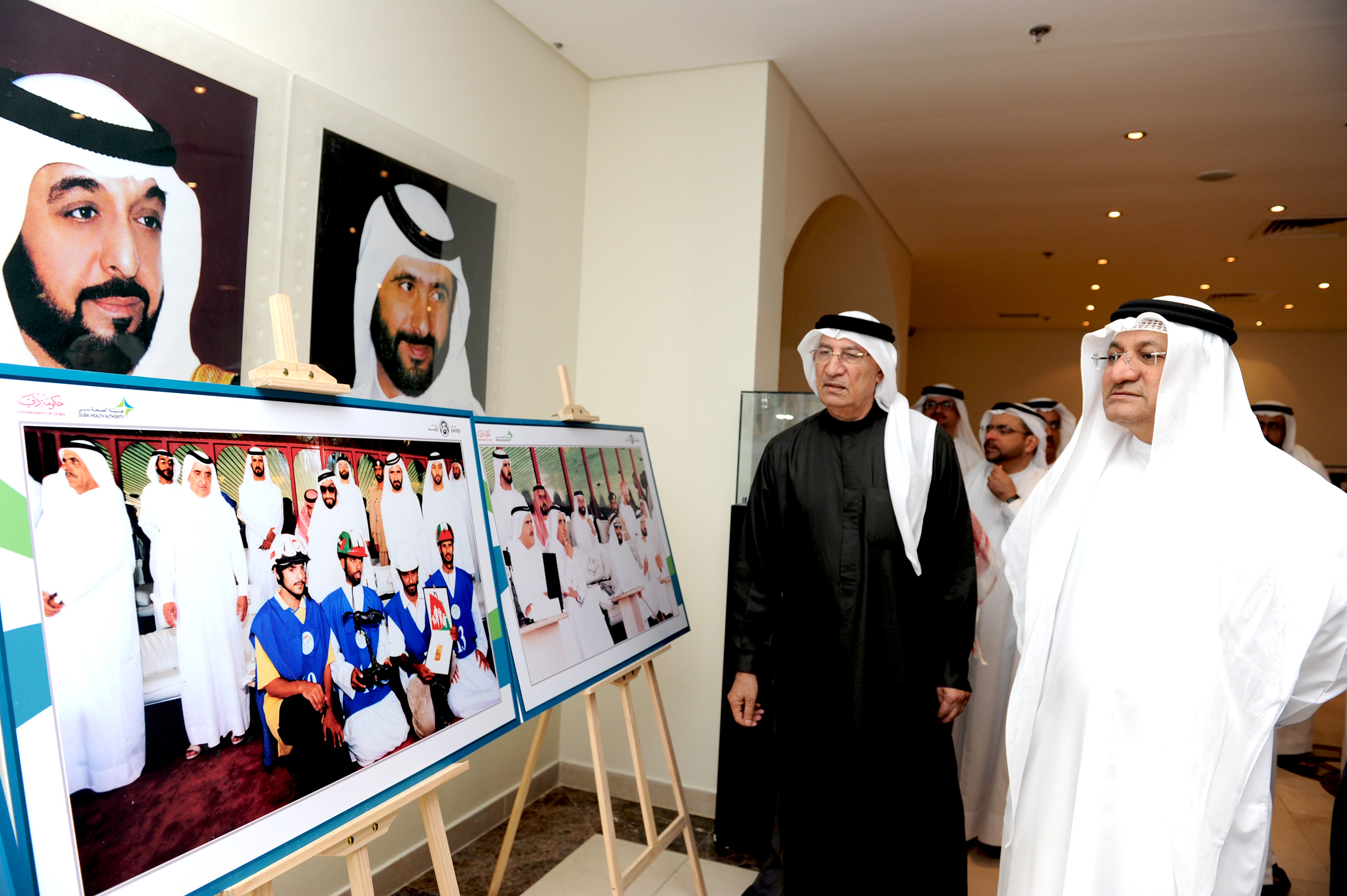 dha holds exhibition in memory of sheikh zayed