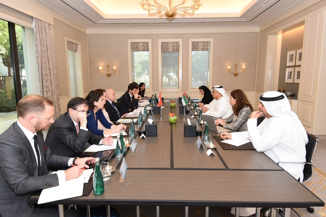 obaid al tayer meets vice president and finance minister of switzerland