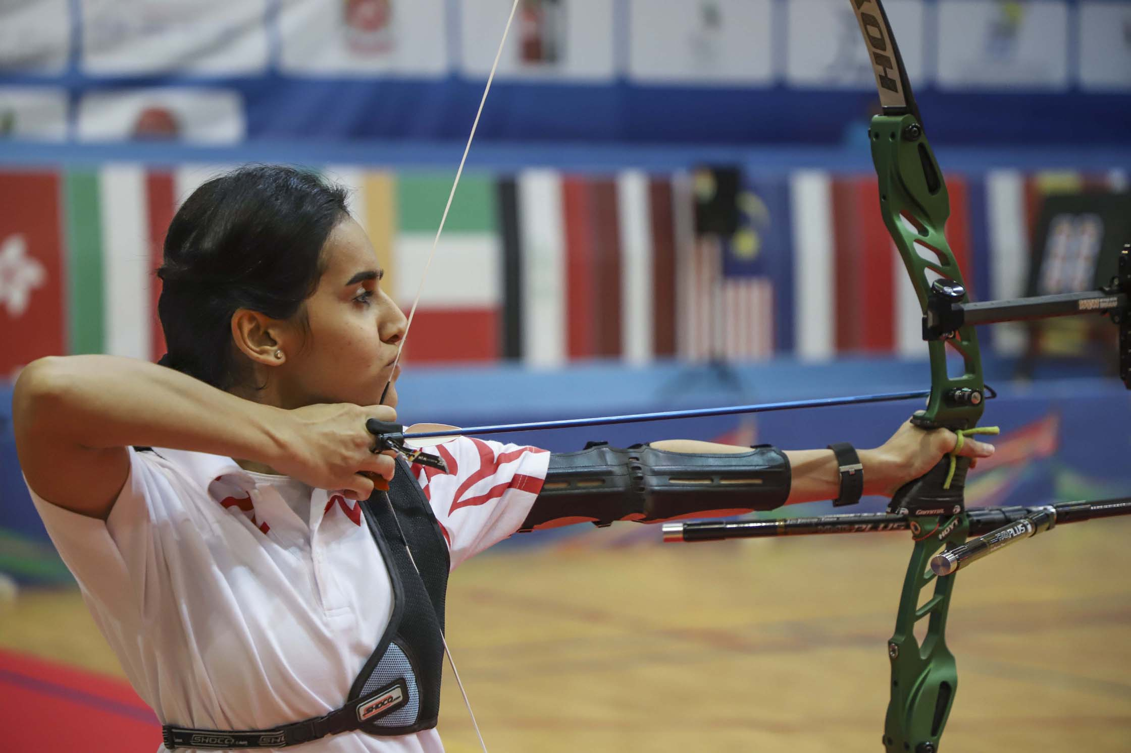 sharjah and bahrain right on target for archery golds