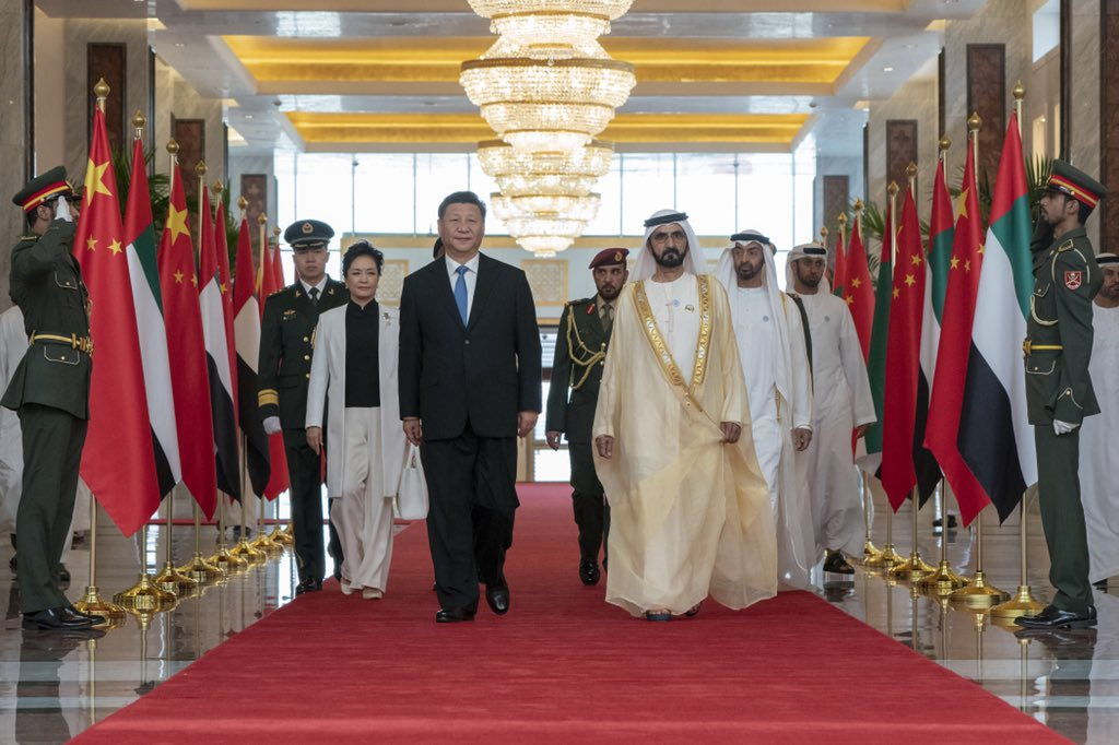 chinese president arrives in uae 1