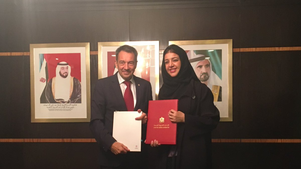 uae and icrc sign agreement worth aed40.4 million to support humanitarian efforts