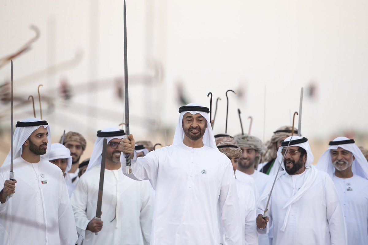 mohamed bin zayed attends march of union