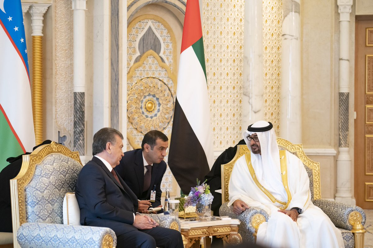 mohamed bin zayed, president of uzbekistan discuss bilateral ties, latest regional and global developments 1