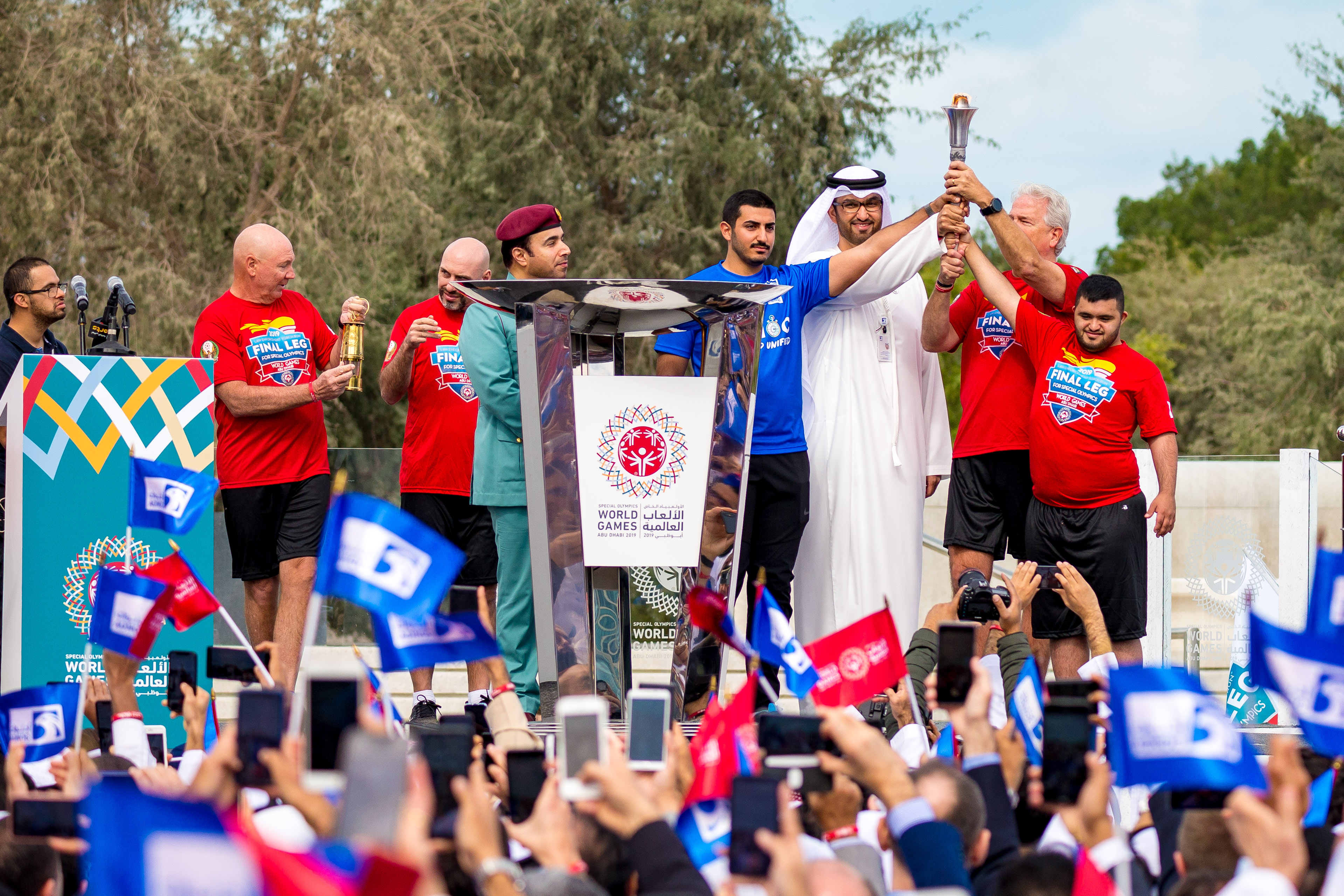 adnoc honours special olympics eternal flame of hope as it begins journey across uae 1