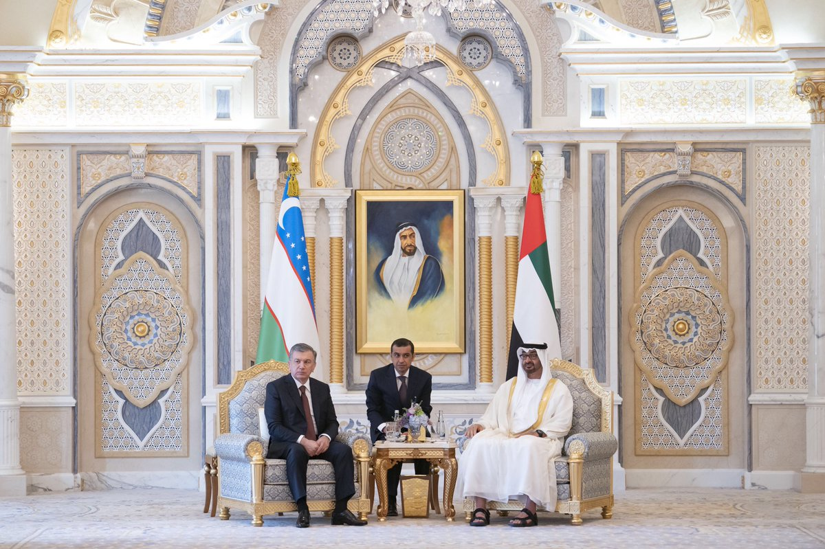 mohamed bin zayed, president of uzbekistan discuss bilateral ties, latest regional and global developments 3