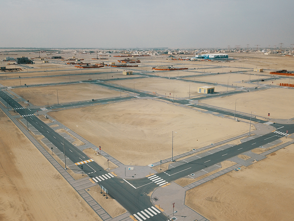 mohamed bin zayed city 'z35 roads, infrastructure' works completed musanada  1
