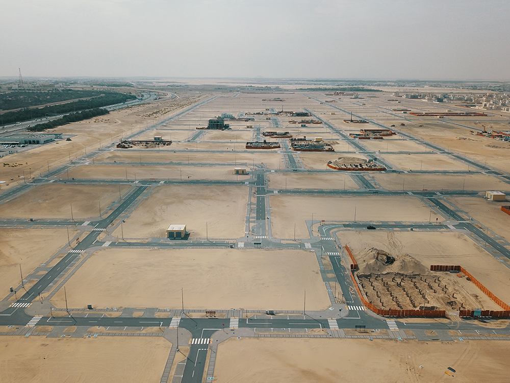mohamed bin zayed city 'z35 roads, infrastructure' works completed musanada   3
