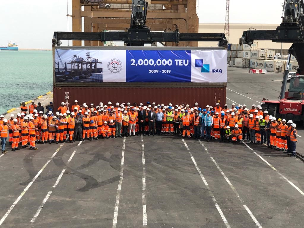gulftainer handles container volume of two million teus at iraq container terminal  1