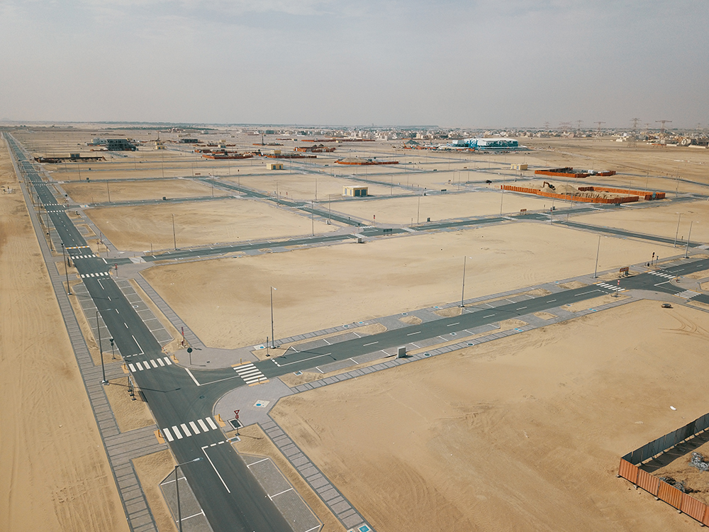 mohamed bin zayed city 'z35 roads, infrastructure' works completed musanada   2