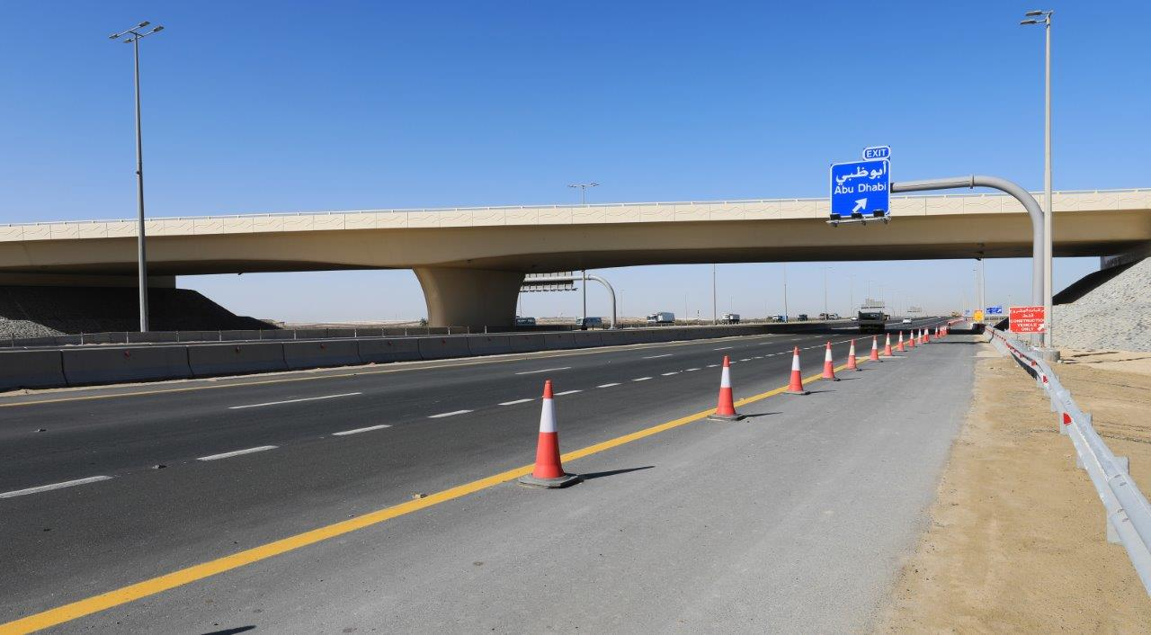 musanada  aed58 million al aryam bridge interchange completed 2
