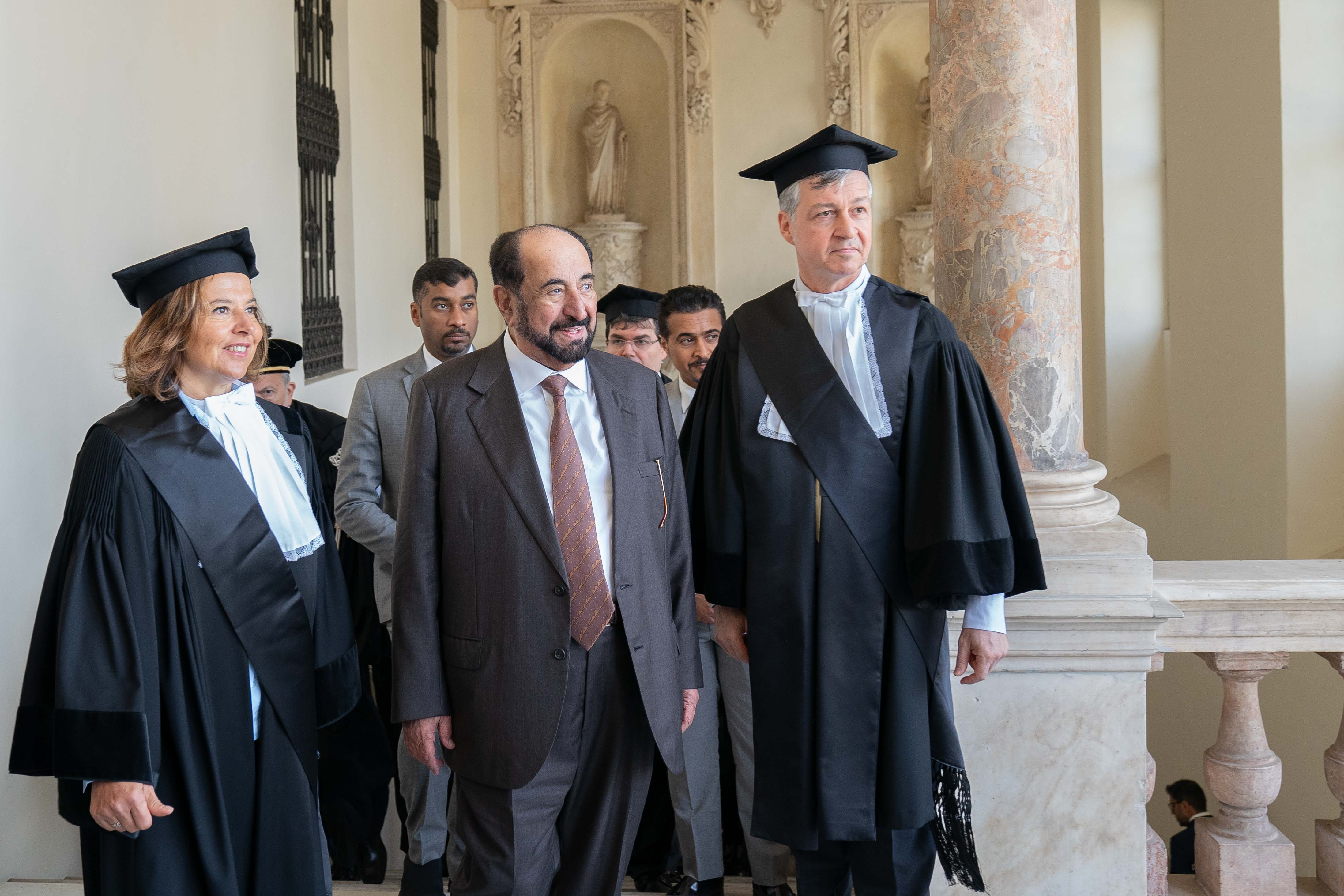 ruler of sharjah receives honorary doctorate from leading turin universities  7