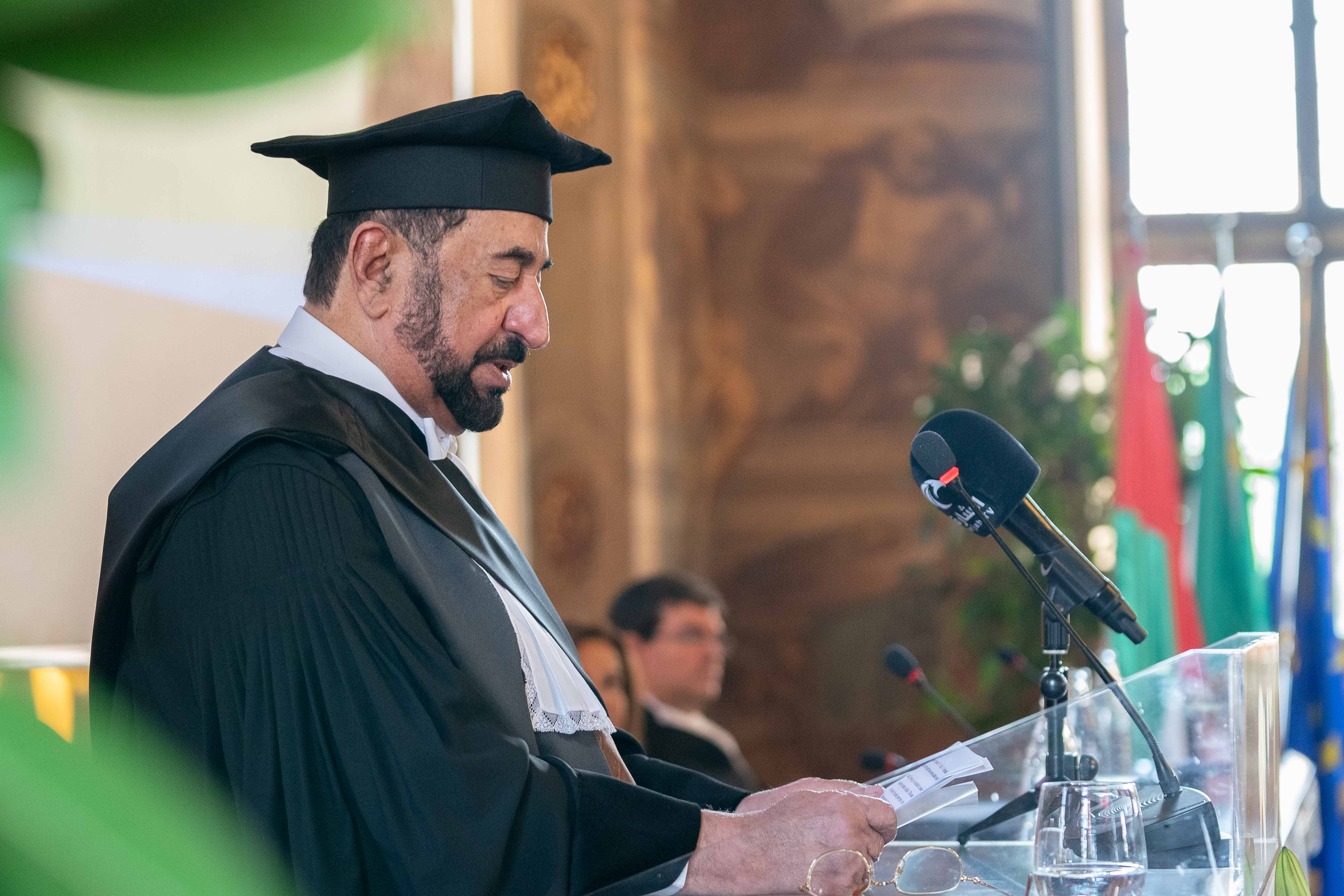 ruler of sharjah receives honorary doctorate from leading turin universities  5