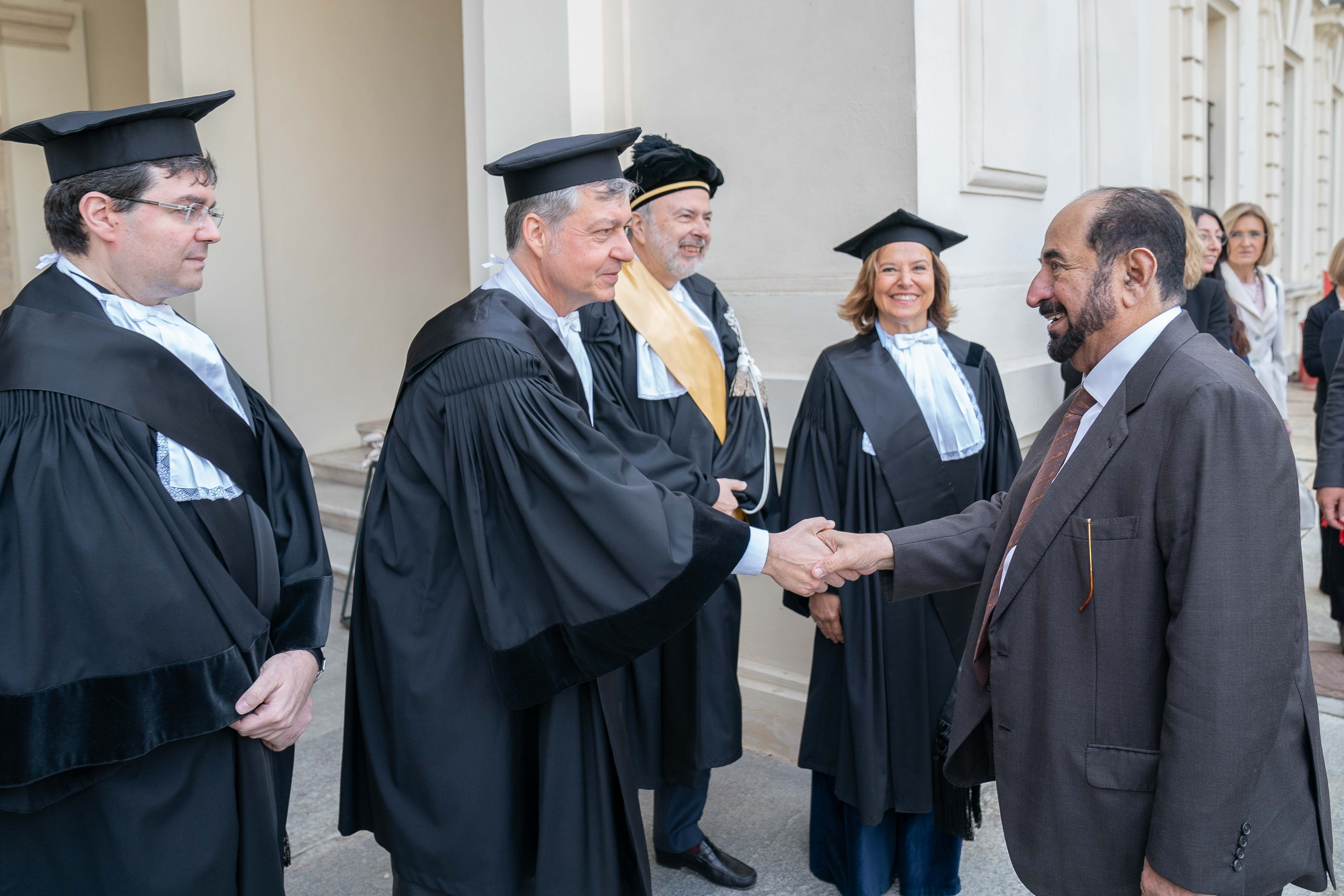 ruler of sharjah receives honorary doctorate from leading turin universities  6