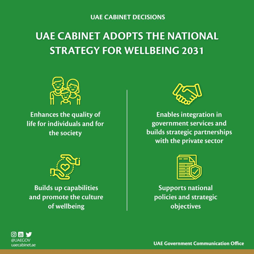uae cabinet approves national strategy for wellbeing 2031 6