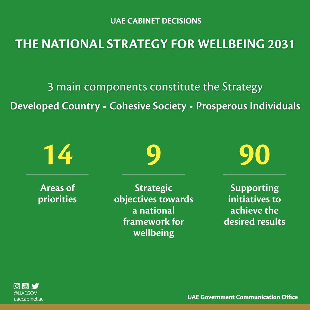 uae cabinet approves national strategy for wellbeing 2031 7