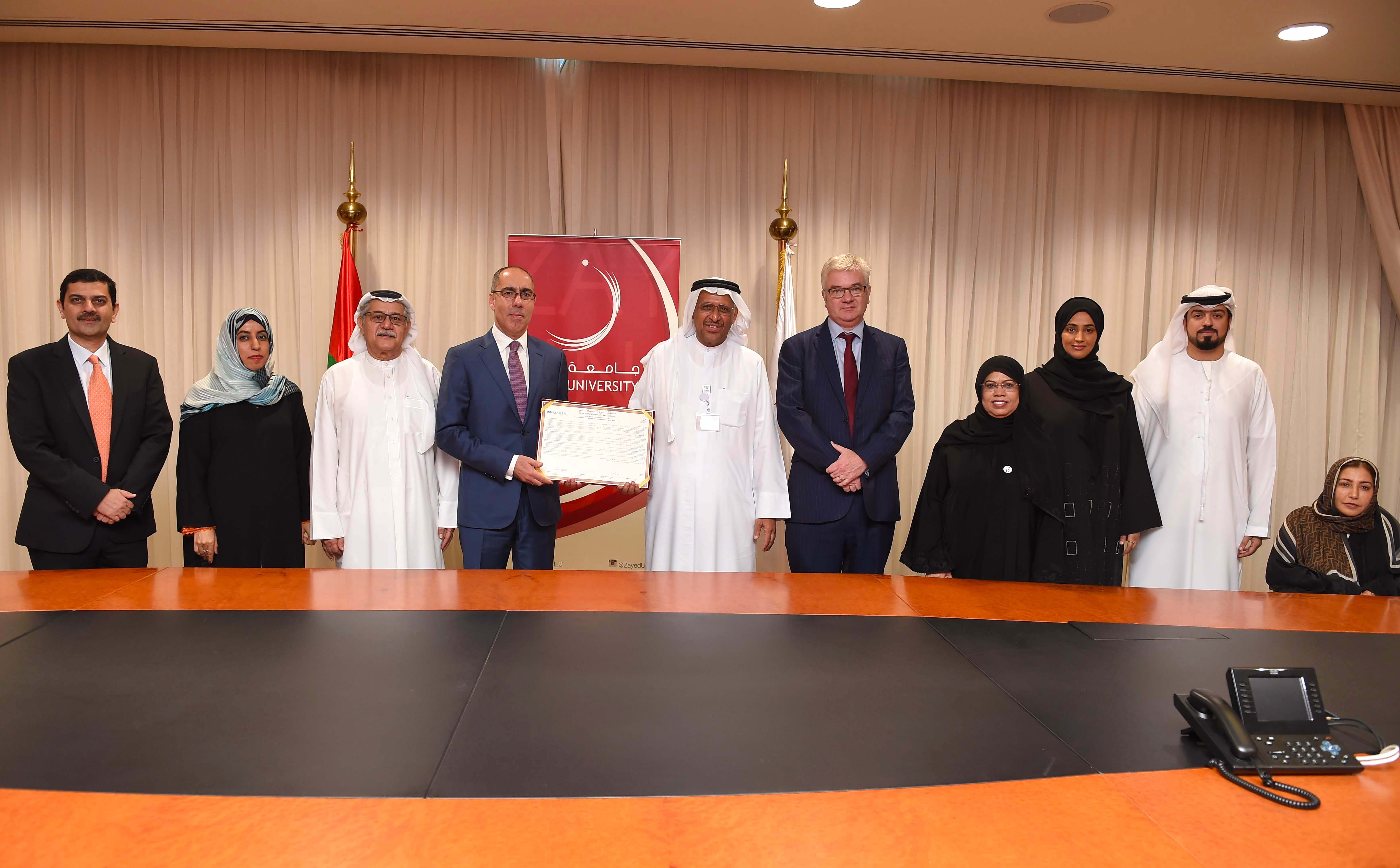 zayed university, marsh to support 'students of determination' 2