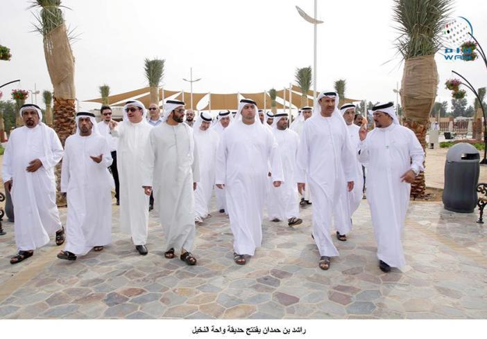 وكالة أنباء الإمارات - راشد بن حمدان يفتتح حديقة واحة النخيل