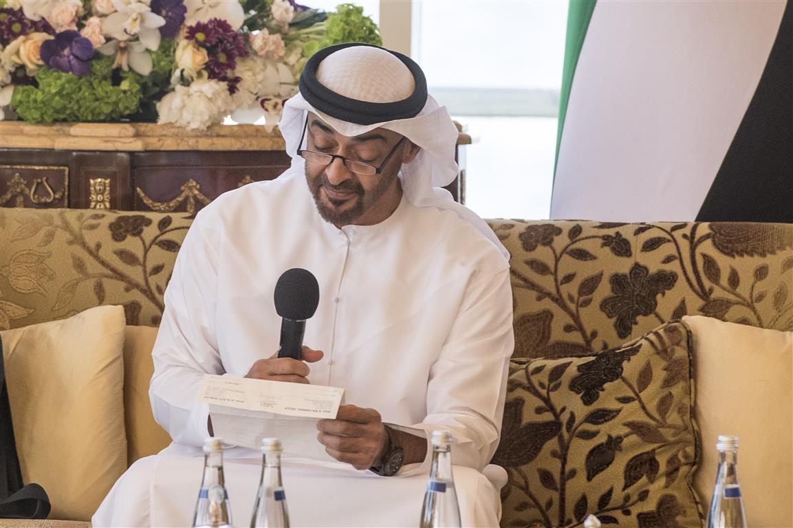 """محمد بن زايد يحيي مبادرة  """" نايل وبن حرمل"""" التبرع لمساعدة الشعب الصومالي  2"""