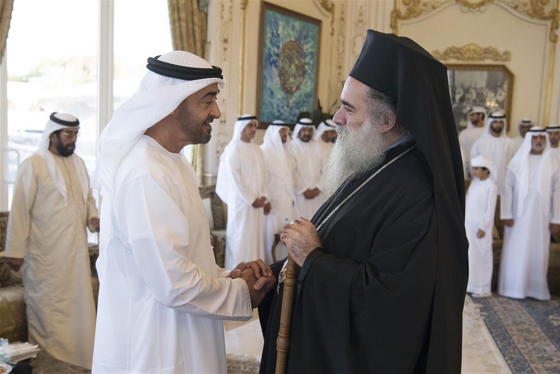 محمد بن زايد يستقبل رئيس أساقفة القدس. 3