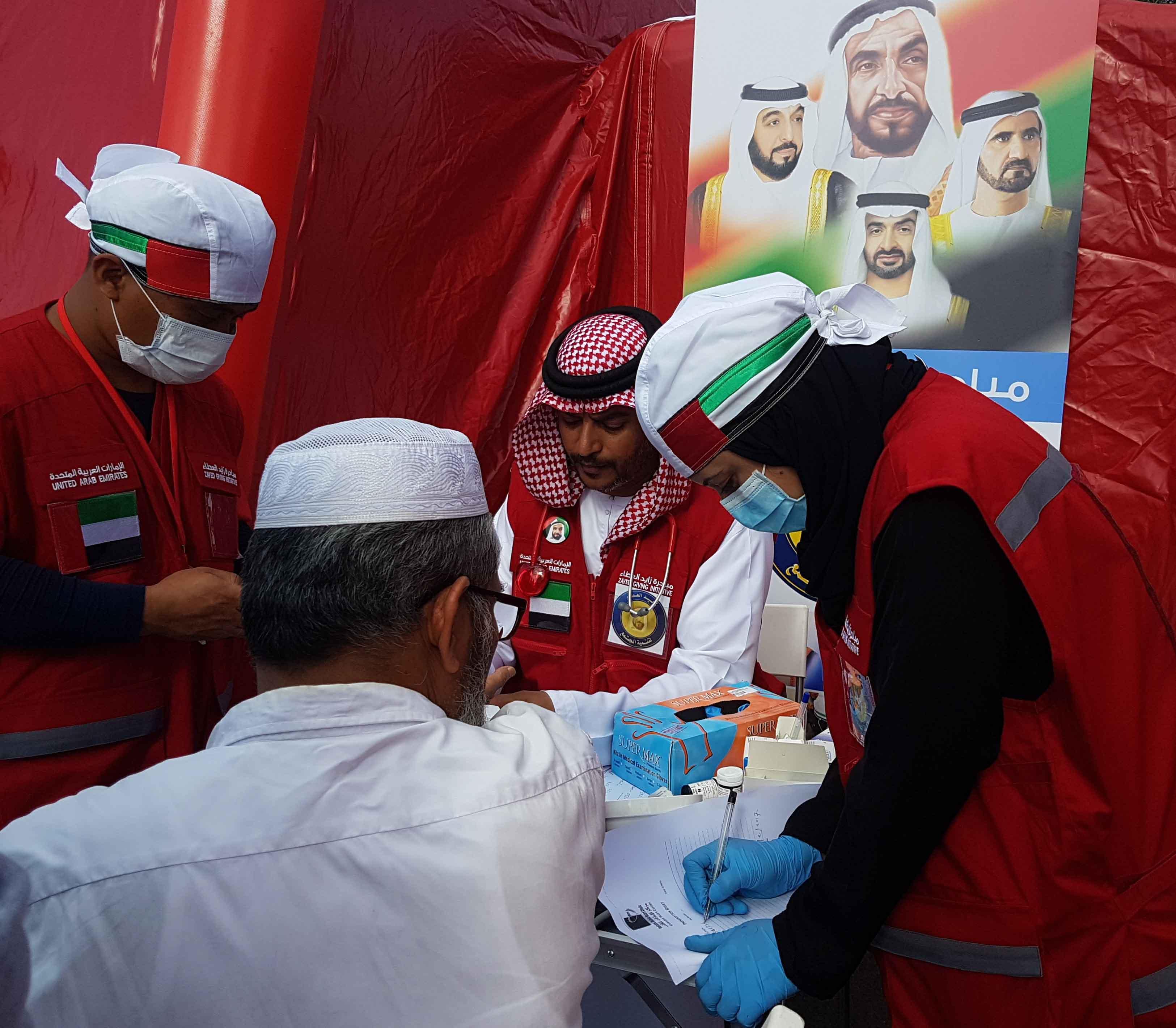 """زايد العطاء تطلق أول مستشفى ميداني تطوعي لعلاج العمال """" عناية """". 2"""