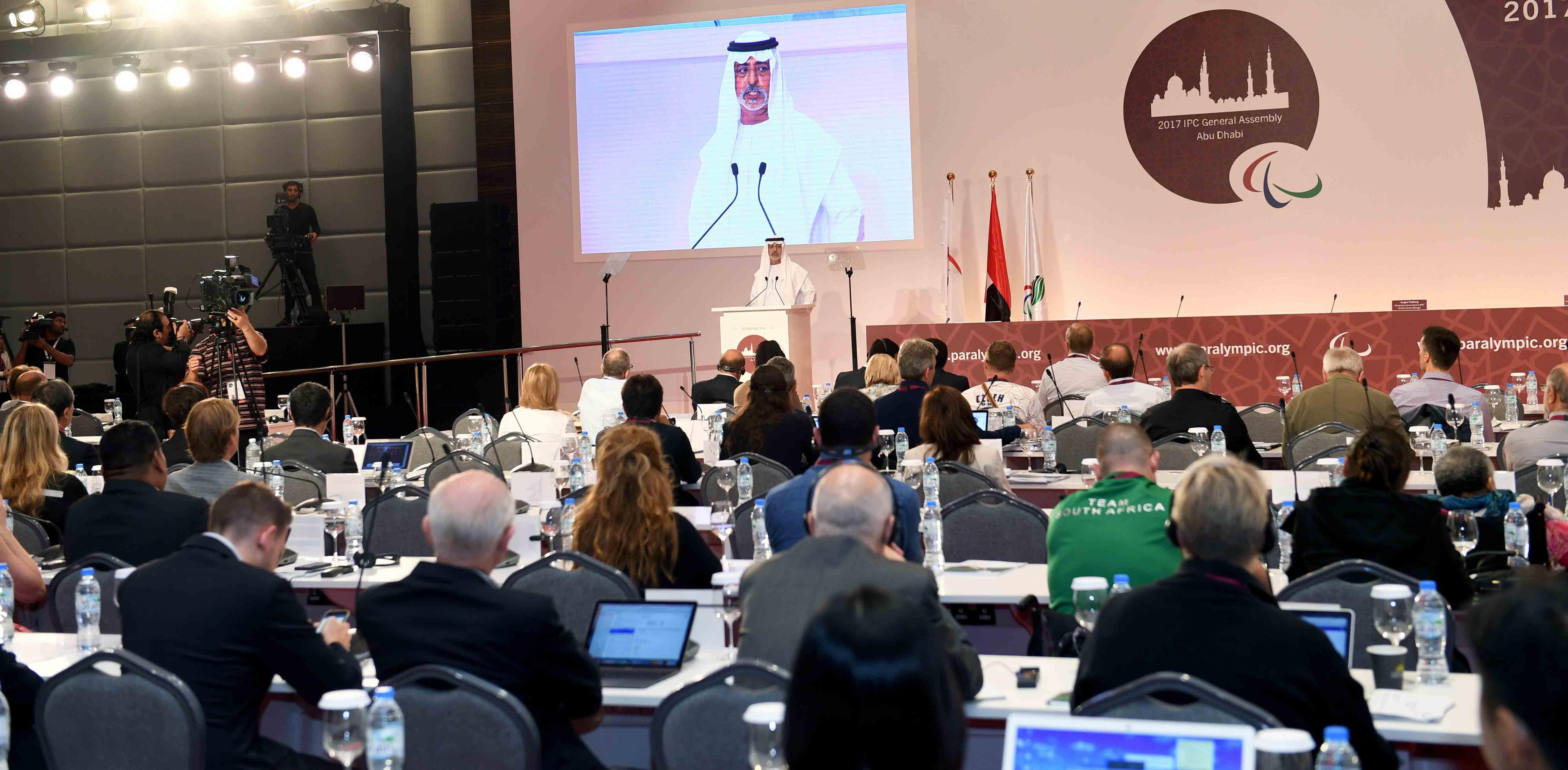 نهيان بن مبارك يفتتح فعاليات المؤتمر الدولي للجنة البارالمبية الدولية 2