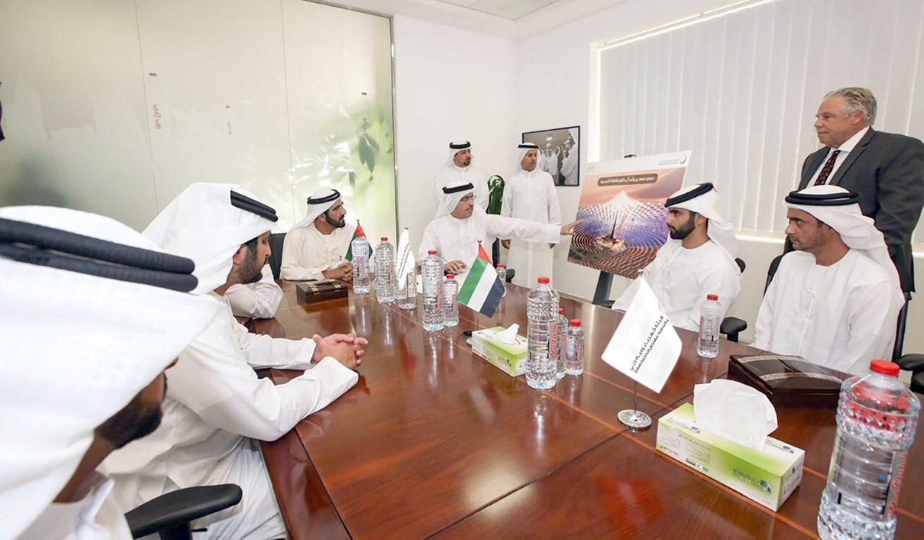 محمد بن راشد يعلن أكبر مشروع للطاقة الشمسية المركزة في العالم  بتكلفة 14.2 مليار درهم. 2