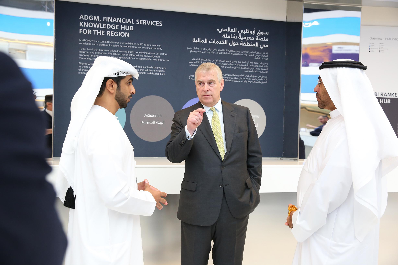 hrh duke of york visits abu dhabi global market  5
