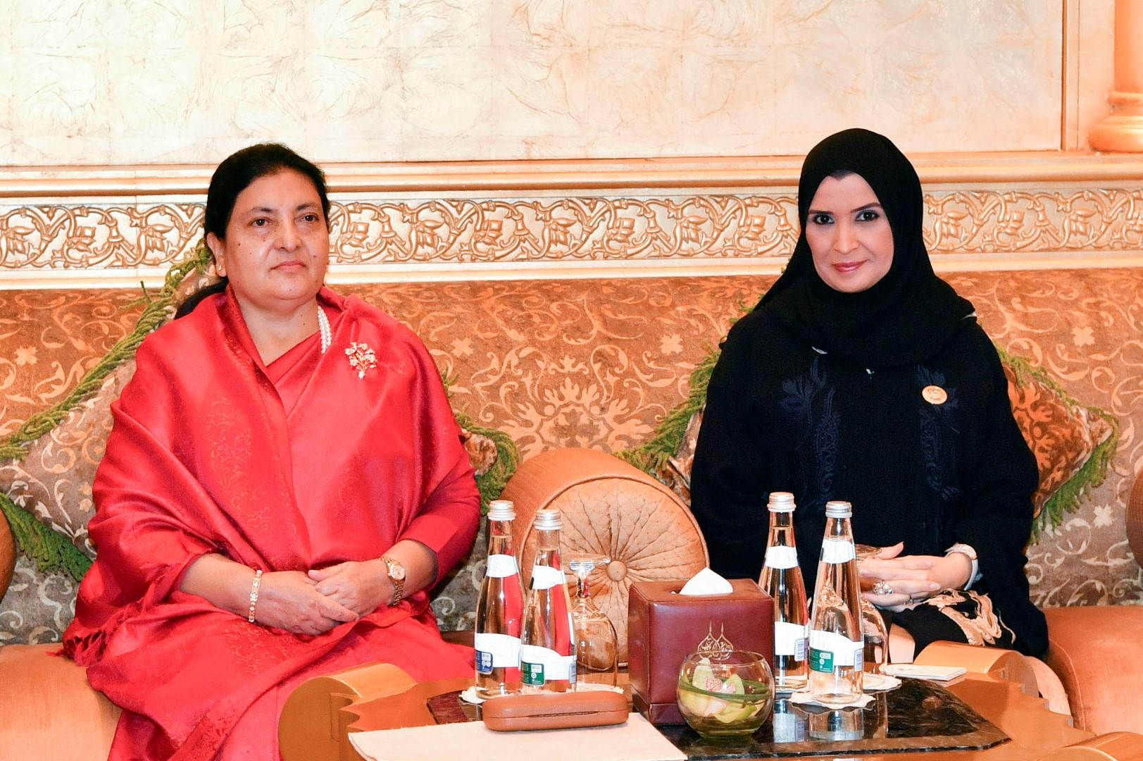 أمل القبيسي تبحث تعزيز العلاقات الثنائية مع رئيسة نيبال 2