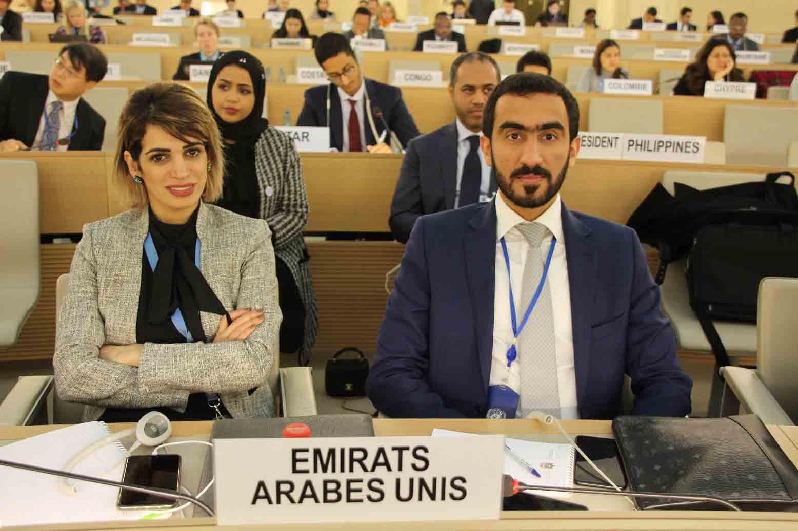 الإمارات تقدم تقريرها الوطني الثالث في إطار الاستعراض الدوري الشامل لحقوق الإنسان في جنيف 3