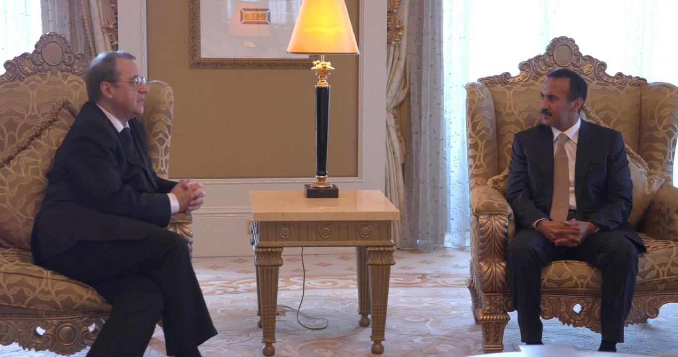 أحمد علي عبدالله صالح يلتقي نائب وزير الخارجية الروسي 2
