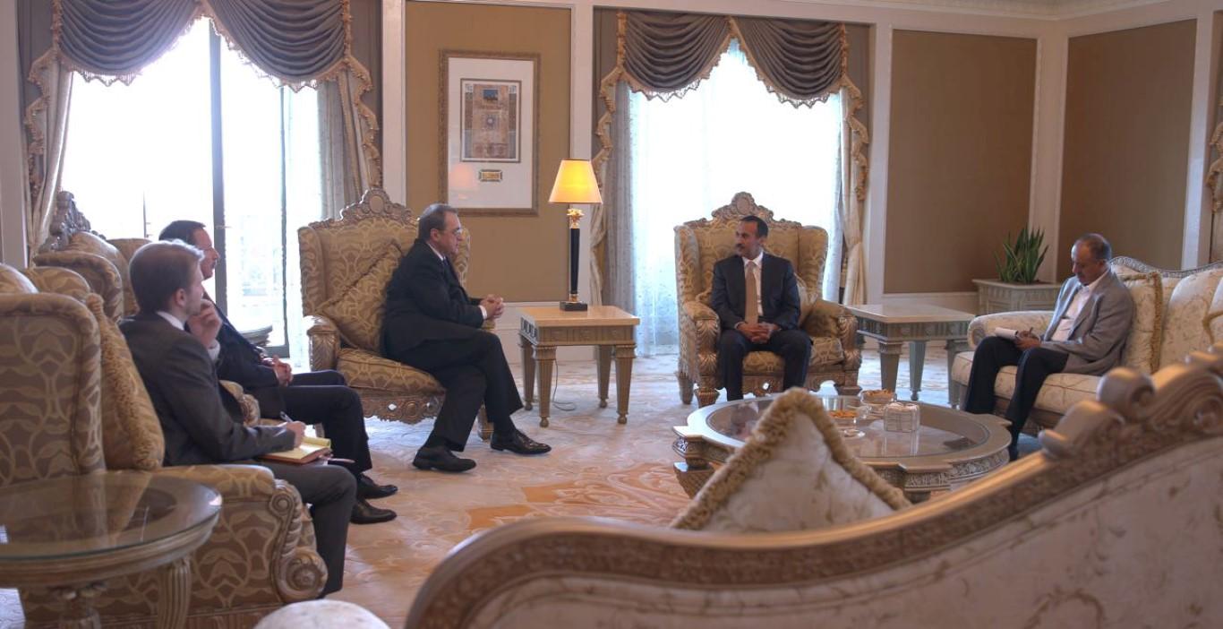 أحمد علي عبدالله صالح يلتقي نائب وزير الخارجية الروسي 1