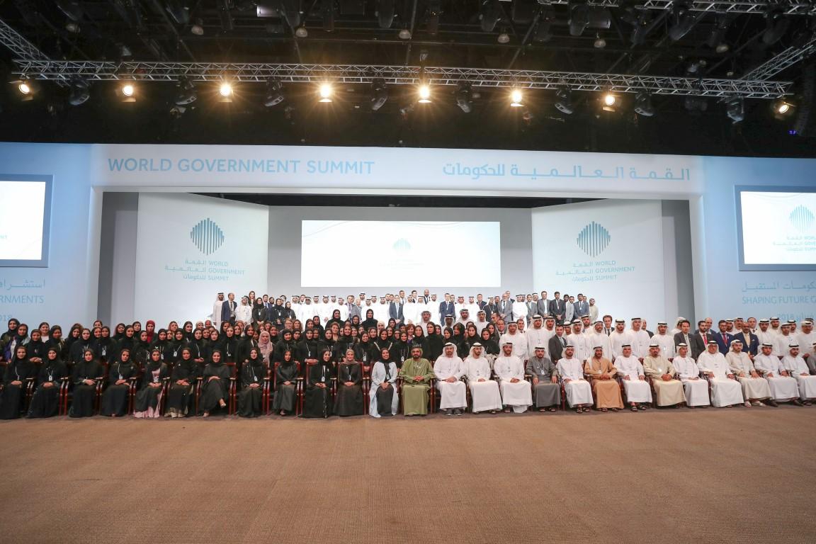 محمد بن راشد يكرم الفائزين بجوائز القمة العالمية للحكومات  بمشاركة سيف ومنصور بن زايد 1