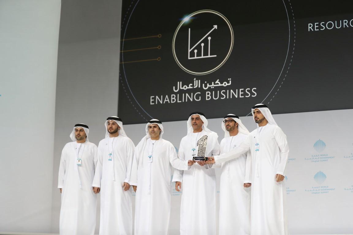 محمد بن راشد يكرم الفائزين بجوائز القمة العالمية للحكومات  بمشاركة سيف ومنصور بن زايد 3