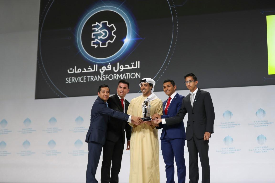 محمد بن راشد يكرم الفائزين بجوائز القمة العالمية للحكومات  بمشاركة سيف ومنصور بن زايد 9