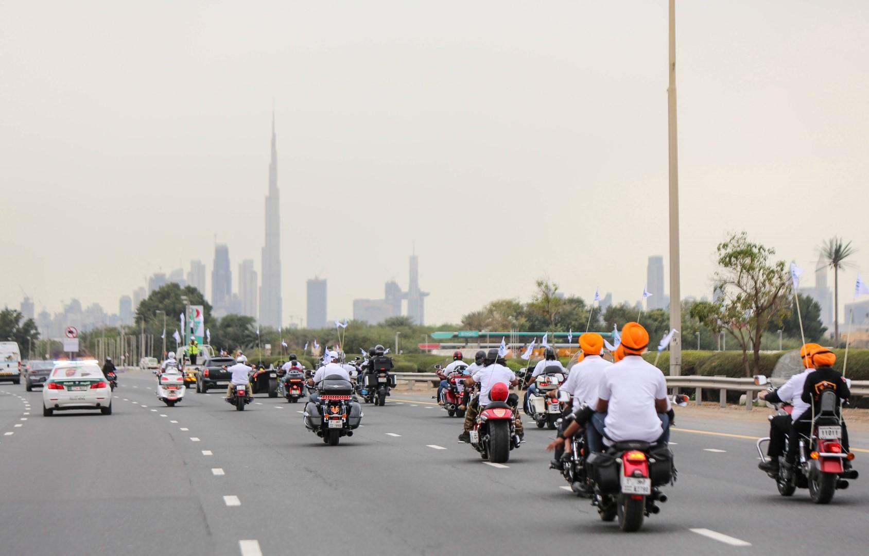 """""""الاستدامة في العمل الإغاثي """" شعار مسيرة ديهاد بمشاركة أكثر من 100 دراجة نارية 2"""