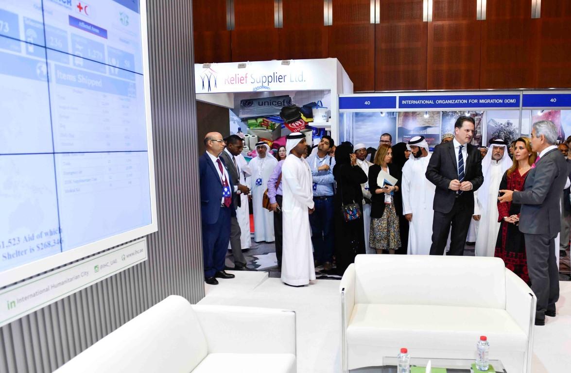 """هيا بنت الحسين تفتتح معرض ومؤتمر دبي الدولي للإغاثة والتطوير """" ديهاد """". 3"""
