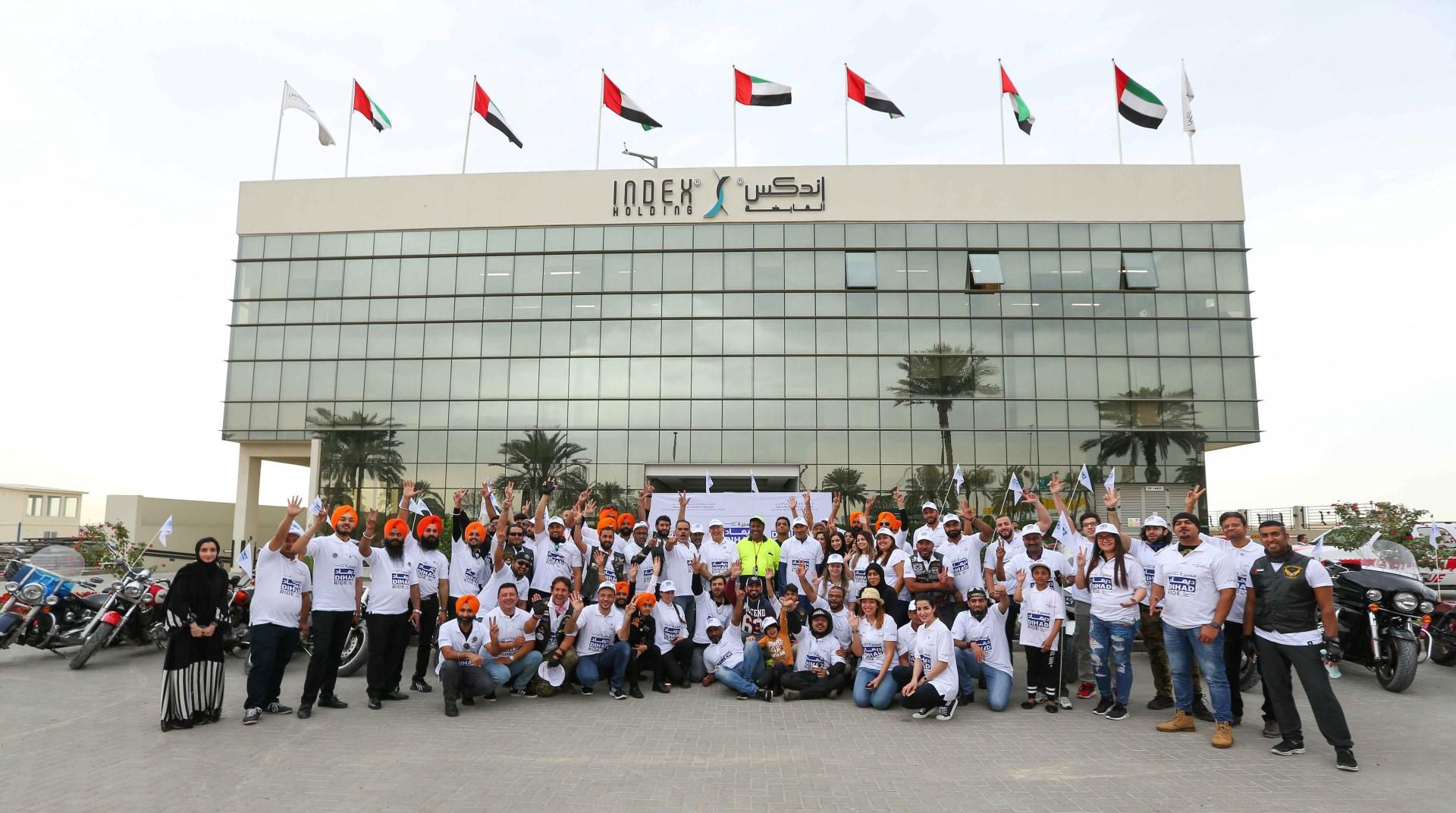 """""""الاستدامة في العمل الإغاثي """" شعار مسيرة ديهاد بمشاركة أكثر من 100 دراجة نارية 1"""