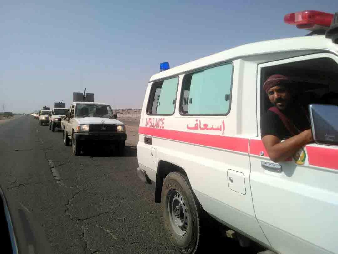 بدعم من التحالف العربي .. قوات الحزام الأمني تبدأ عملها بمحافظة الضالع اليمنية 2
