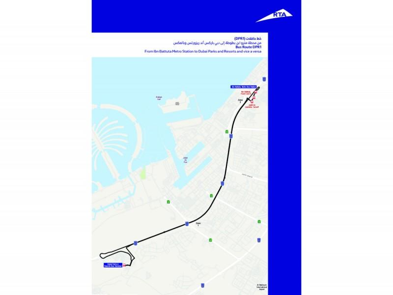 Emirates News Agency - RTA opens new bus route to Dubai Parks