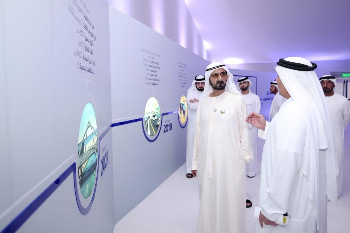 محمد بن راشد يدشن مشروع المعبر السادس على خور دبي بتكلفة 394  مليون درهم .  /Medium/ /1/