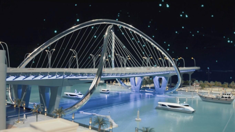 محمد بن راشد يدشن مشروع المعبر السادس على خور دبي بتكلفة 394  مليون درهم .  /Medium/ /7/
