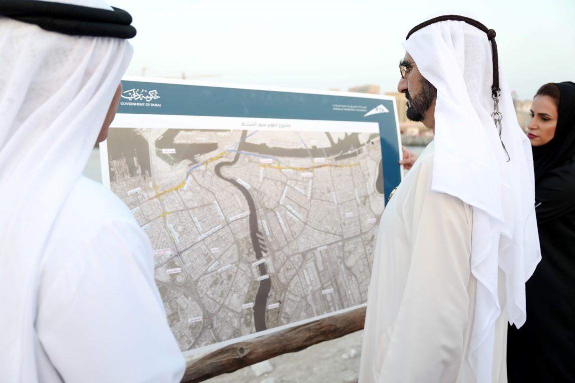 محمد بن راشد يدشن مشروع المعبر السادس على خور دبي بتكلفة 394  مليون درهم .  /Medium/ /6/