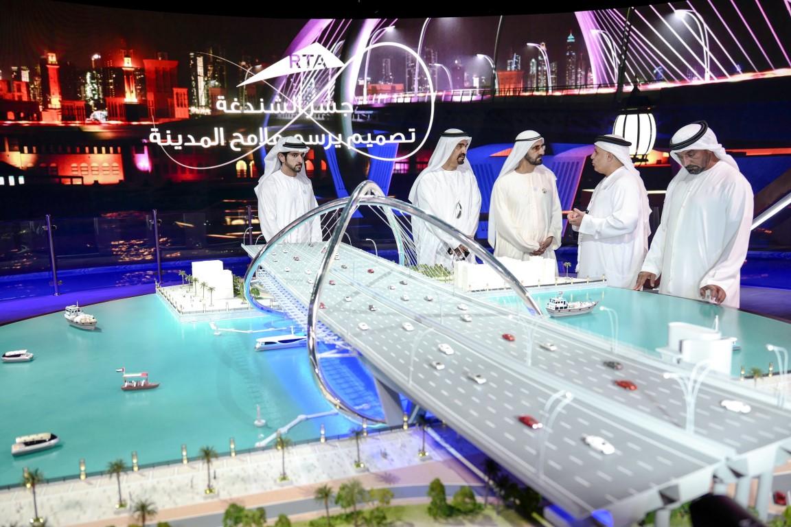 محمد بن راشد يدشن مشروع المعبر السادس على خور دبي بتكلفة 394  مليون درهم .  /Medium/ /4/