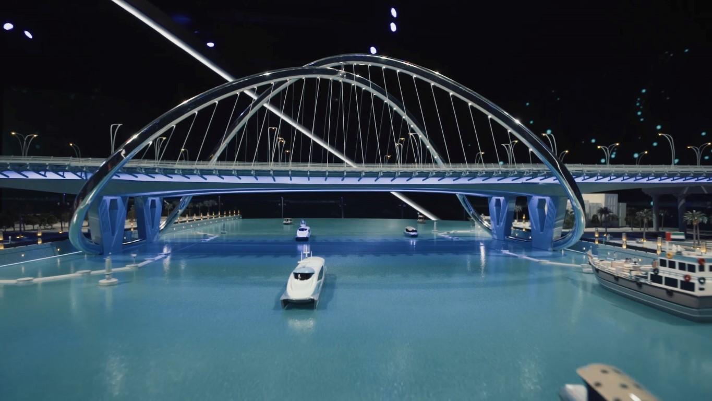 محمد بن راشد يدشن مشروع المعبر السادس على خور دبي بتكلفة 394  مليون درهم .  /Medium/ /8/
