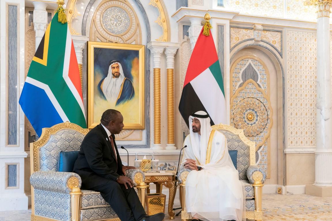 محمد بن زايد يبحث مع رئيس جنوب افريقيا تعزيز علاقات الصداقة والتعاون 1