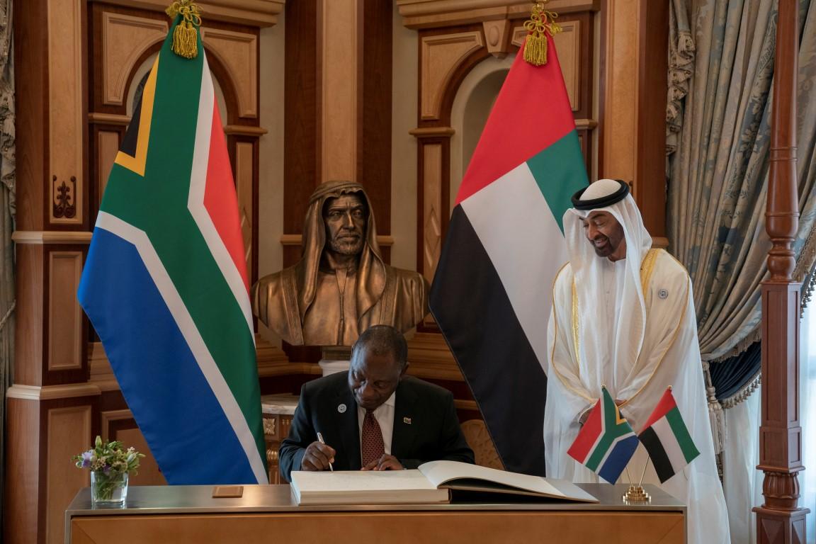 محمد بن زايد يبحث مع رئيس جنوب افريقيا تعزيز علاقات الصداقة والتعاون 6