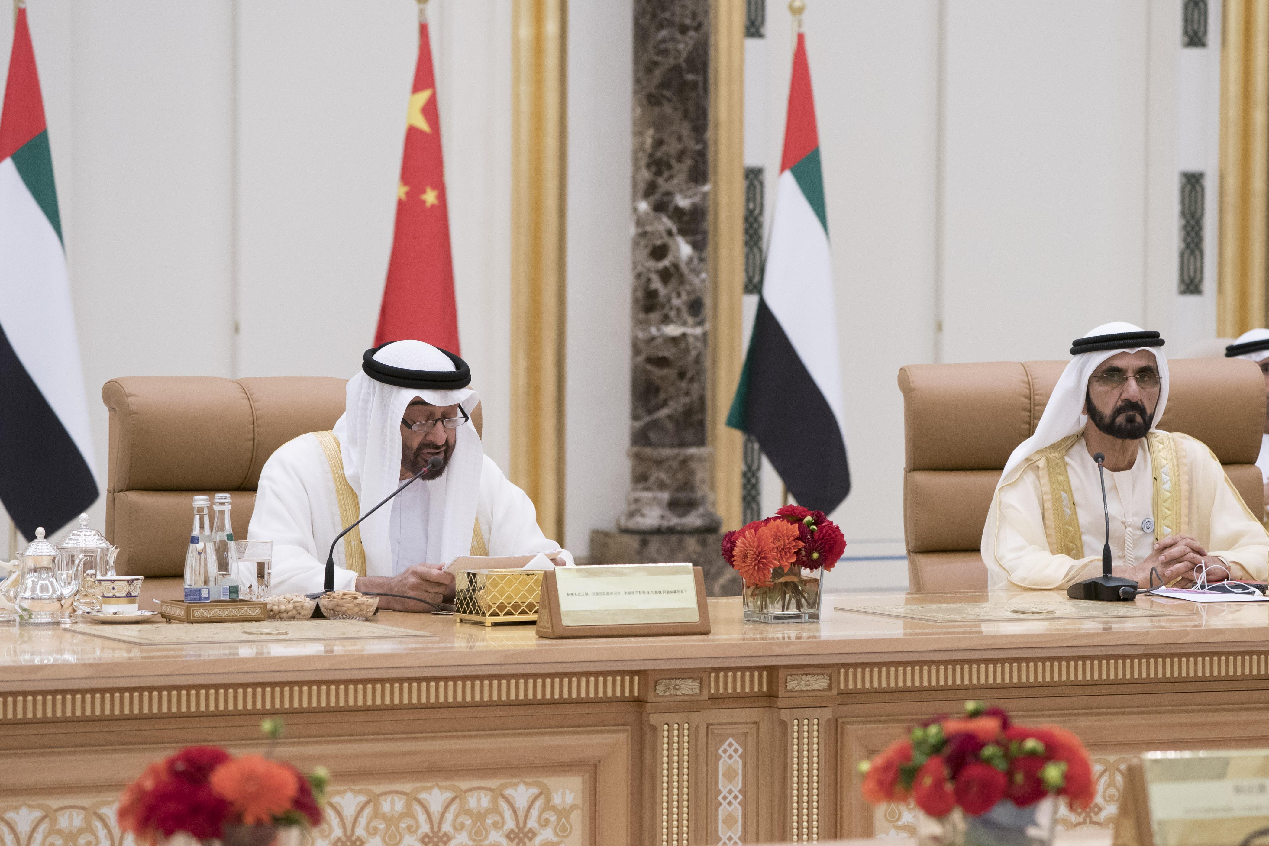 محمد بن راشد ومحمد بن زايد يبحثان مع الرئيس الصيني العلاقات الاستراتيجية بين البلدين 3